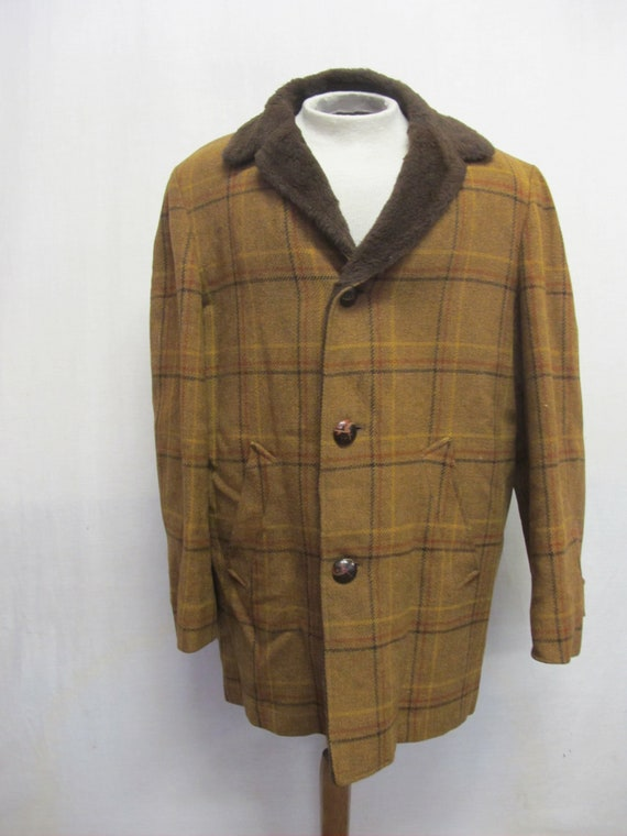 Plaid Wool Jacket Lumberjack Jacket Plaid Wool Coa