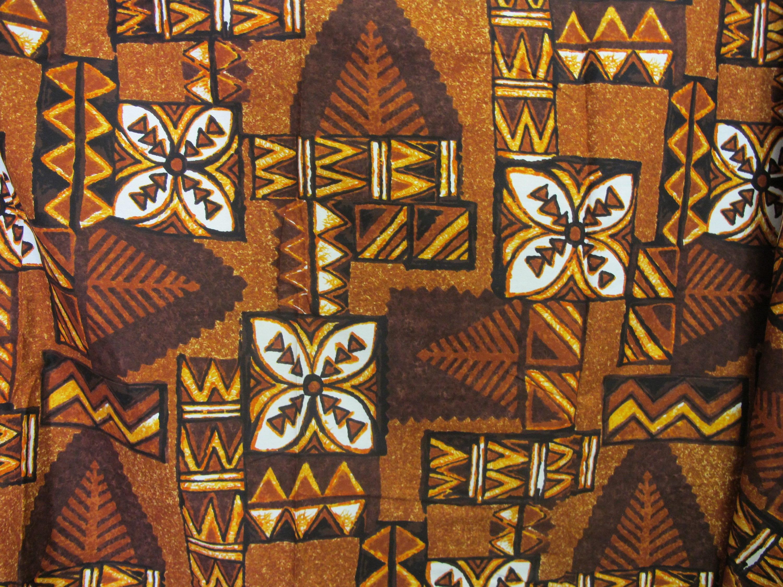 Tissu tribal polynésien tissu tissu hawaïen impression abstrait Tiki marron  impression hawaïen f7b593 40eb42bdee8