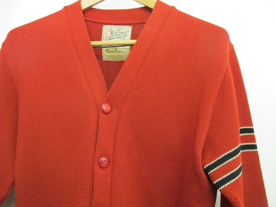 1950s Varsity Sweater Whiting Letterman Sweater R… - image 3