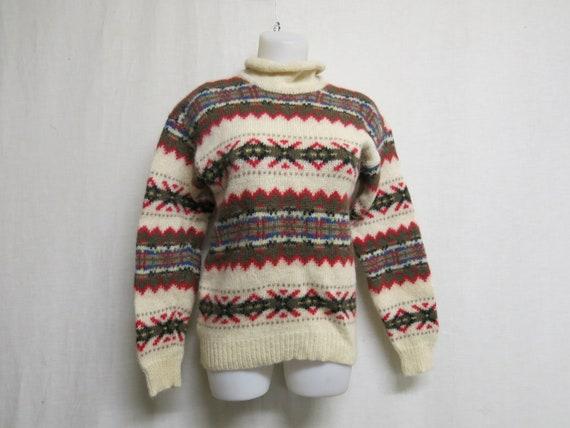 Fair Isle Sweater Woolrich Nordic Sweater Snowflak