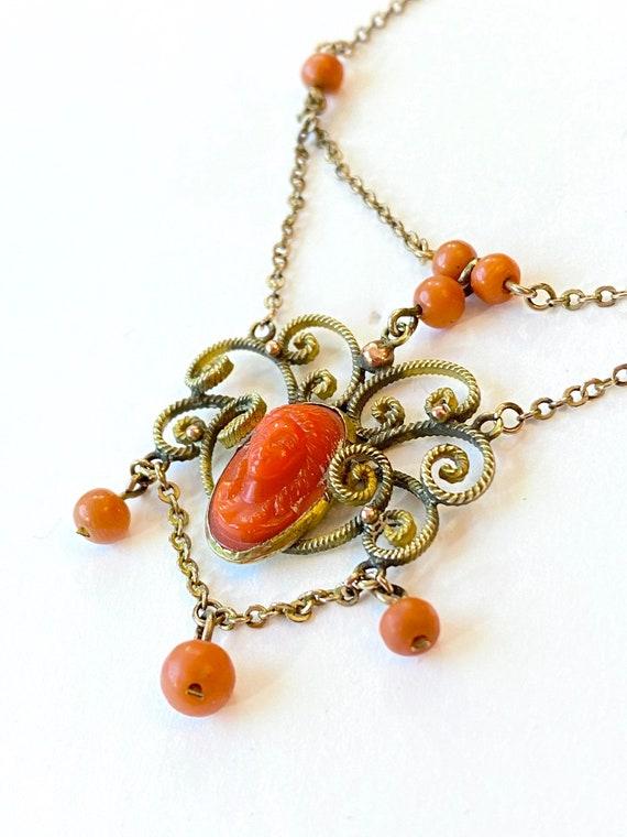 Antique Victorian Festoon Necklace Gold Filled Sim