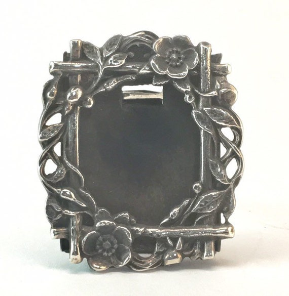Antique Sterling Silver Picture Frame Art Nouveau Miniature Etsy
