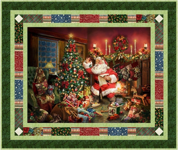 Panel Quilt Pattern Christmas Postcard From St Nick Hoffman Etsy