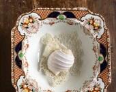 Antique bowl English Imari colours 1920s china fruit bowl