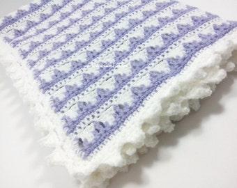 Uncinetto pattern copertina neonato culla punto puff aloe for Uncinetto digitale