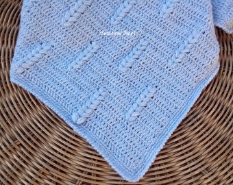 Crochet PATTERN 259 Crochet Baby Blanket / Wheat Stitch/ Tutorial Instant Download / PATTERN 259/ Permission to sell finished items.