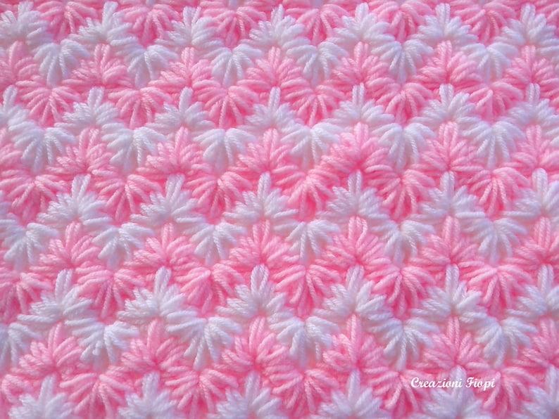 Crochet Pattern Baby Blanketcrochet Zig Zag Puff Stitch Etsy