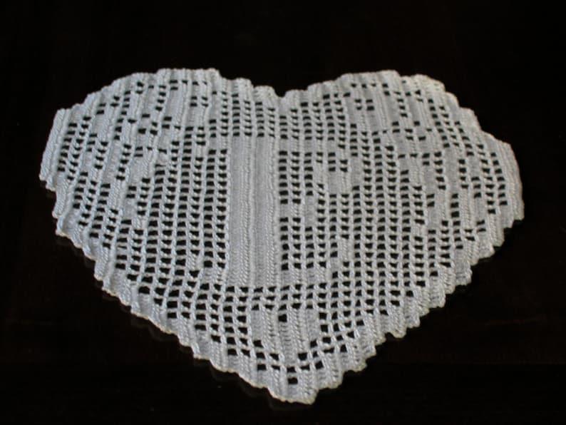 Pattern Crochet Doily Monogram Heart Letter E Etsy