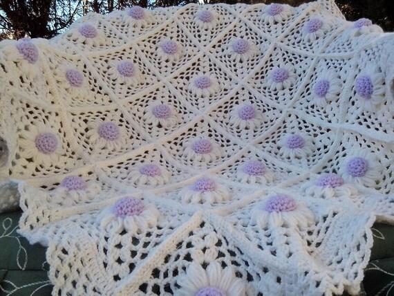 Uncinetto pattern copertina neonato culla margherita for Uncinetto digitale