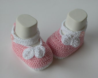 Pattern Crochet Baby Shoes with bow Crochet pattern Booties Crochet Pattern Slippers PATTERN 234 /bow white 4 size /Instant Download