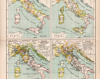 image relating to Printable Map of Sicily identified as Map of sicily Etsy