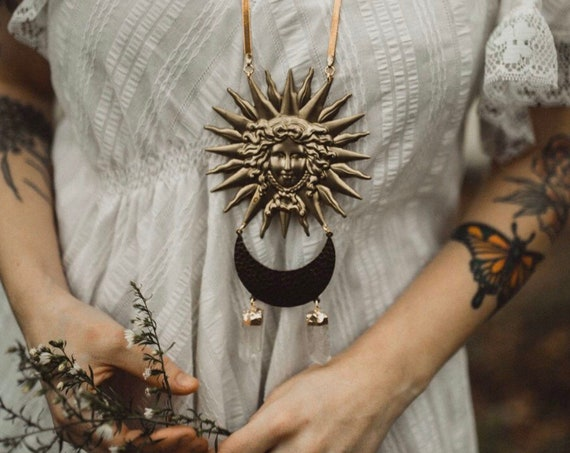 Medusa Necklace with Quartz Crystals
