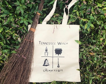 Tennessee Witch Fall Collection Natural Cotton Tote Bag