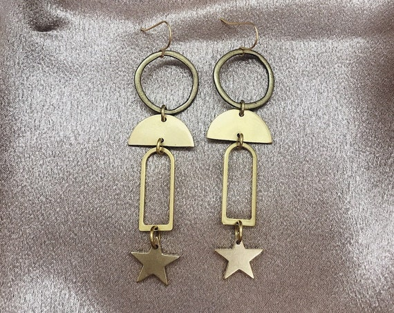Nyx Earrings with Stars and Crescents