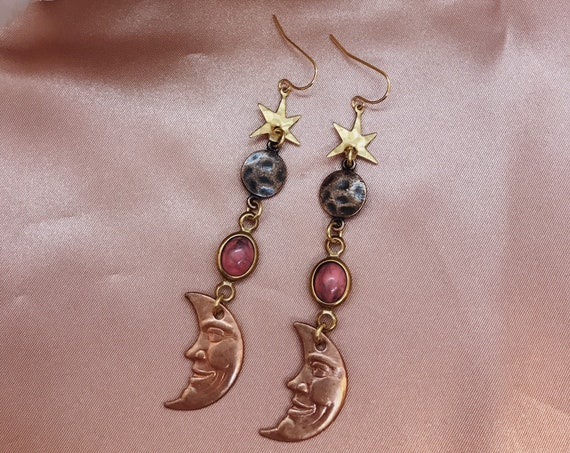 Pink Moon Earrings