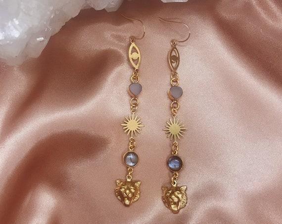 Tiger Goddess Earrings