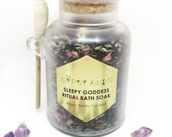 Sleepy Goddess Ritual Bath Soak / Relax + Renew Your Spirit - New Formula!