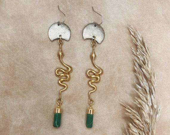 Jungle Snake Earrings