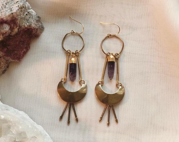 Purple Haze Earrings with Amethyst