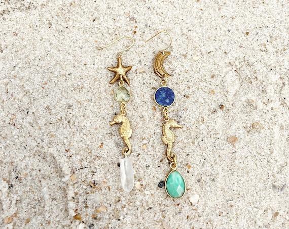 Nixie Mermaid Earrings with Crystals