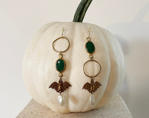 Queen of the Damned Earrings with Bats