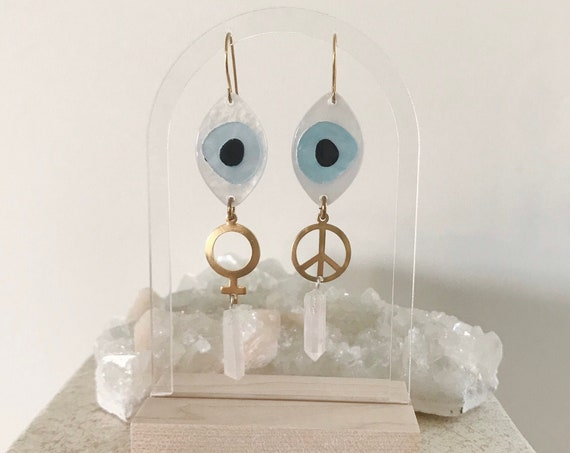 Looking to the Future Earrings with Quartz