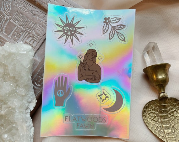 Flatwoods Fawn Symbols Holographic Sticker Sheet