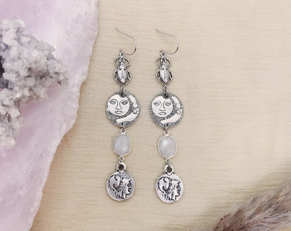 Athena Silver Goddess Earrings