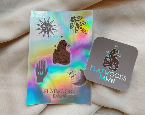 Flatwoods Fawn Holographic Sticker Pack