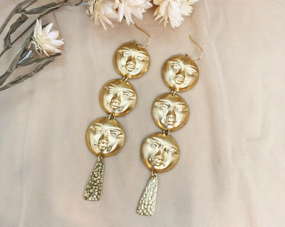 Faces of the Moon Earrings