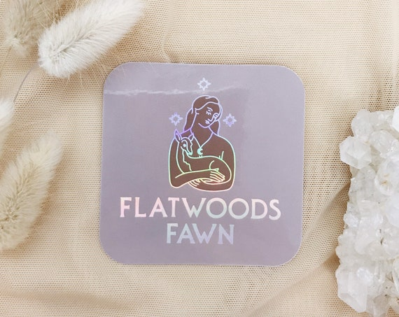 Flatwoods Fawn Holographic Sticker