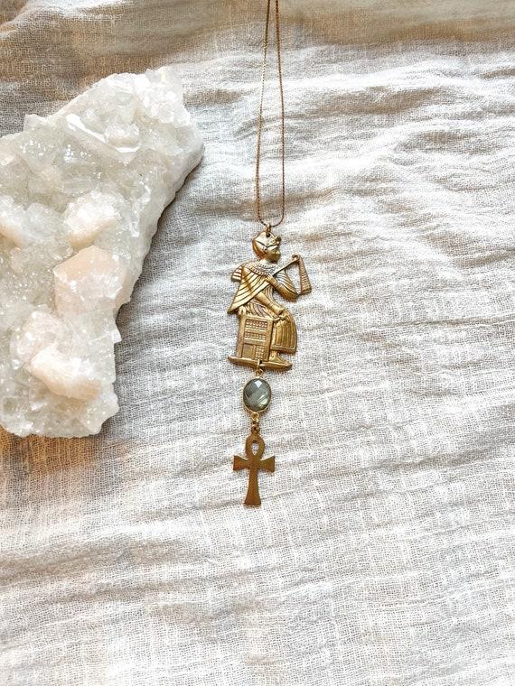 Deity Necklace with Labradorite