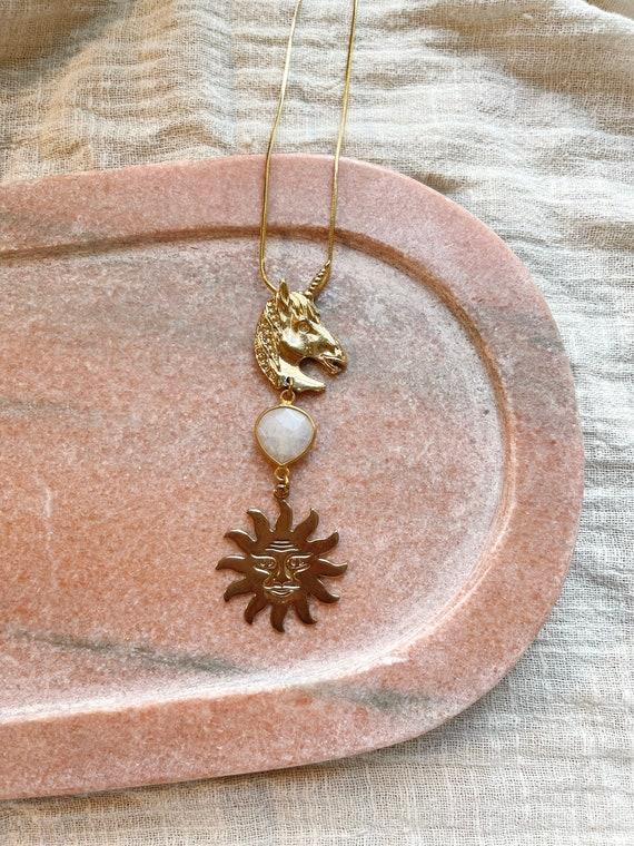 Unicorn Magic Necklace with Moonstone