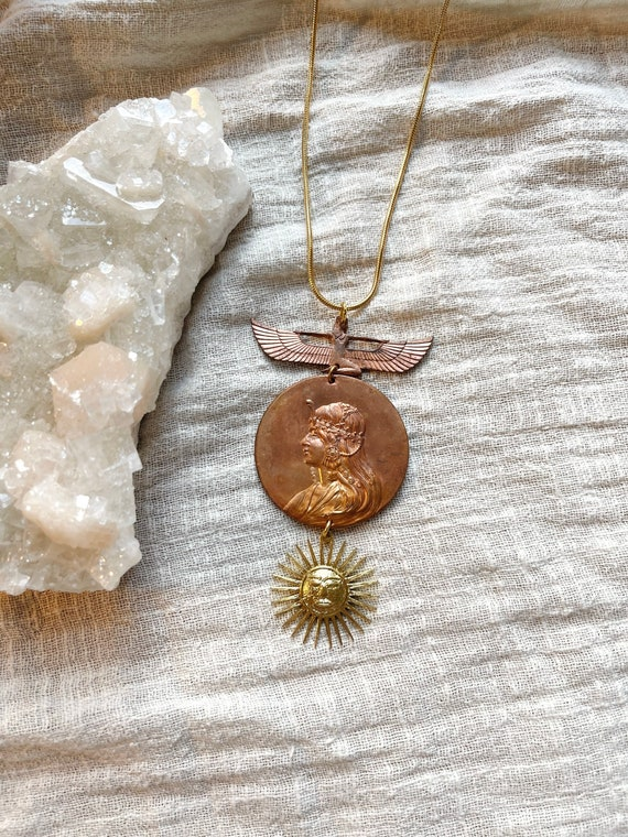 Flying Cleo Necklace