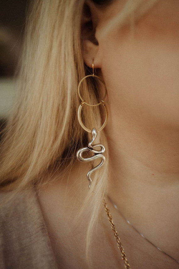 Sibyl Snake Earrings / Lilith of the South Collection