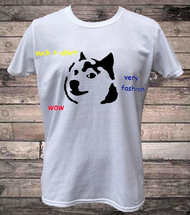 Doge Dog Internet Meme Such T-Shirt | Etsy