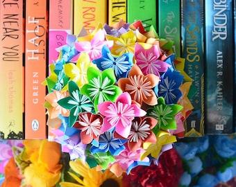 Rainbow Origami Kusudama Half Globe for Photography Props or Table Decor