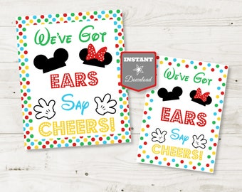 INSTANT DOWNLOAD Printable Mouse Clubhouse 5x7 and 8x10 Face Painting Printable Party Activity Sign  Clubhouse Collection  Item #1660