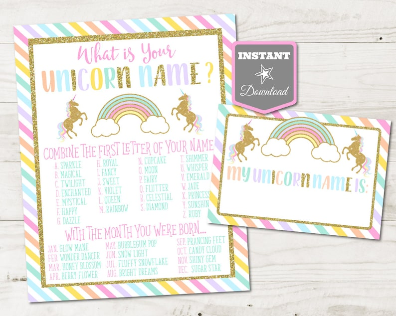 INSTANT DOWNLOAD Printable Unicorn 8x10 What's Your image 0