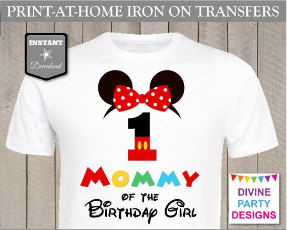 SALE INSTANT DOWNLOAD Print at Home Clubhouse Mommy of the Birthday Girl 1 / Printable / Family / Party / Shirt / T-shirt / Item #2347