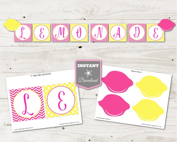photo about Lemonade Signs Printable titled Fast Obtain Crimson Lemonade Printable Lemonade Banner
