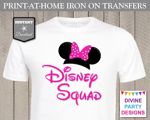 picture relating to Printable Iron on known as Instantaneous Down load Print at Dwelling Purple Woman Mouse Disney Squad