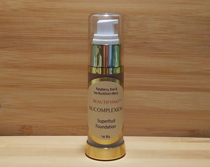 BEAUTIFYING™ Foundation, Color #3, Organic Aloe & Precious Superfruit Extracts, Antioxidant Blend