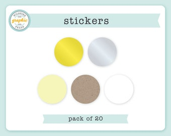 Stickers - PACK of 20 - 2 Inch Diameter - Perfect to Use with Our Embossers