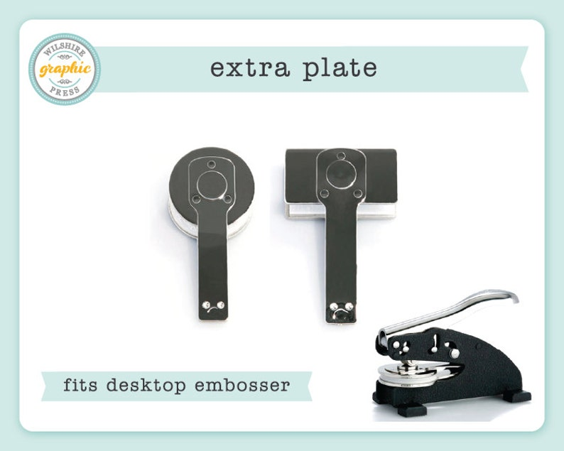 Embosser Plate  Extra Plate to Use with Our Desktop Embosser image 0