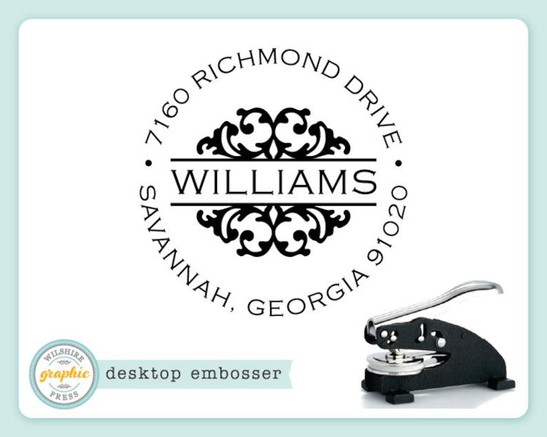 Embosser  WILLIAMS Style  Desk Model  Personalized Return image 0