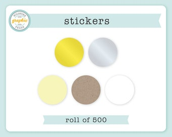 Stickers - ROLL of 500 - 2 Inch Diameter - Perfect to Use with Our Embossers