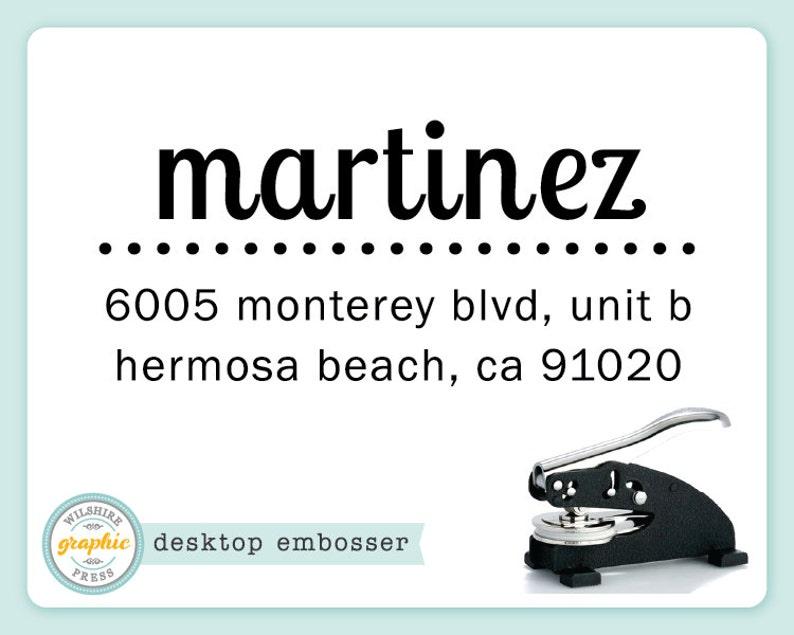 Embosser   MARTINEZ Style  Desk Model  Personalized Return image 0