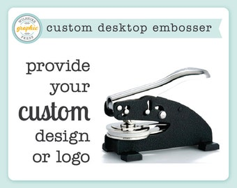 Custom Desktop Embosser or Extra Plate - Provide Your Own Design or Logo