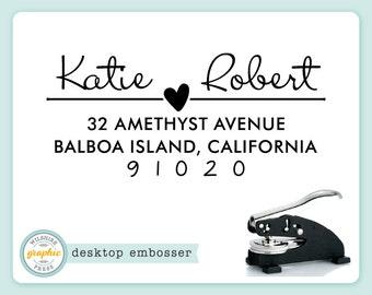 Desktop Embosser - KATIE Style - Personalized Return Address Embosser or Extra Plate